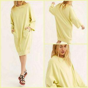 Free People Olsen Sweatshirt Dress Pullover L NWT
